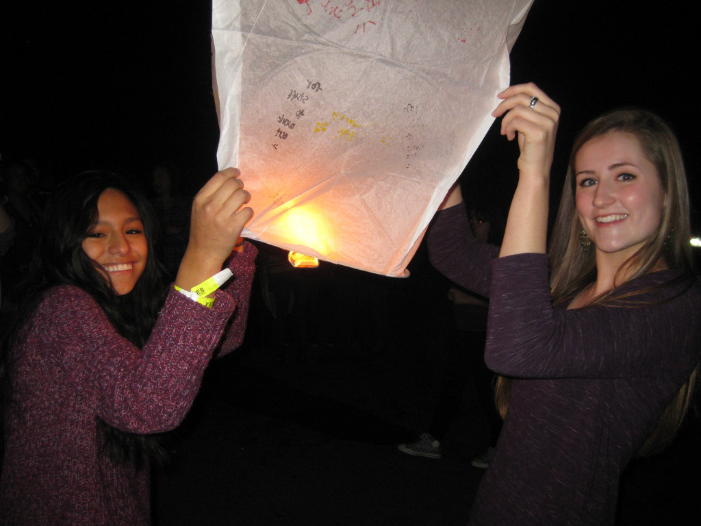Lighting of the lanterns.