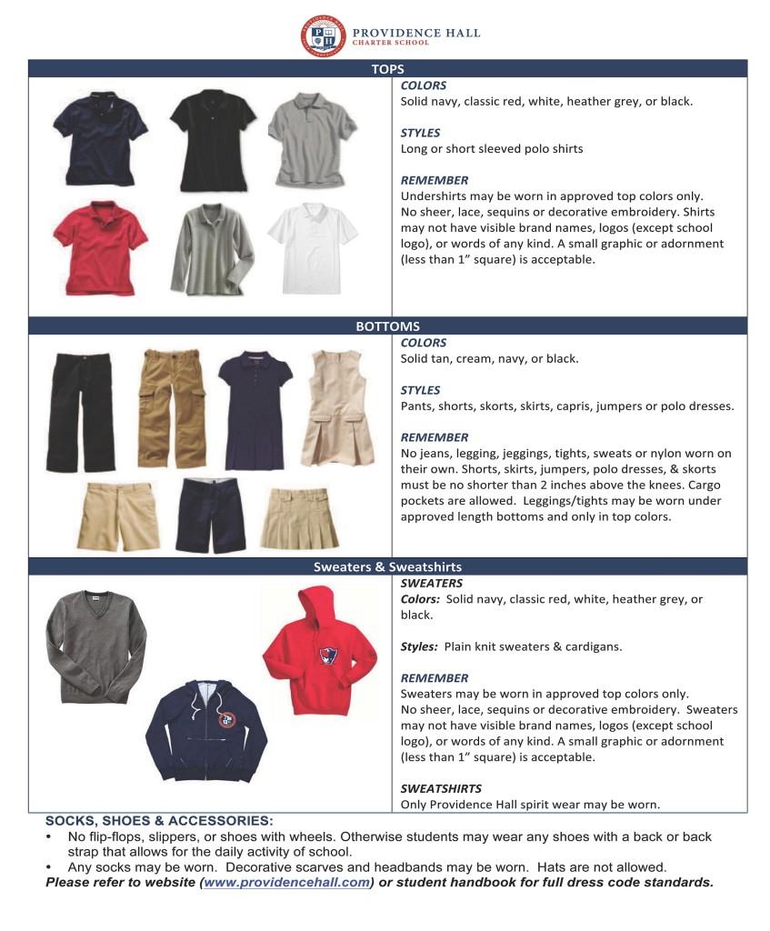 Providence Hall Dress Code 2017-18
