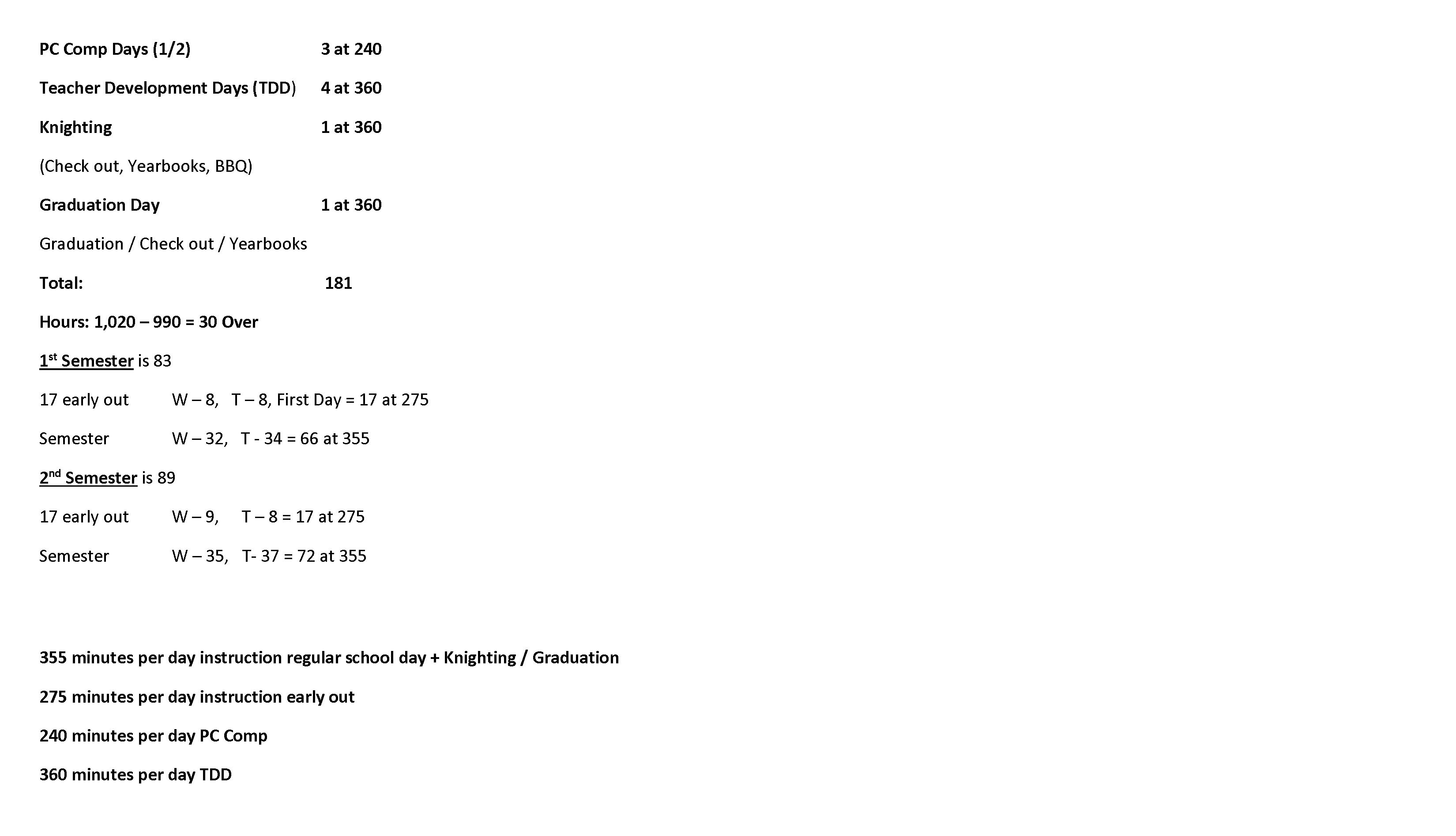 Merit Academy Academic Calendar
